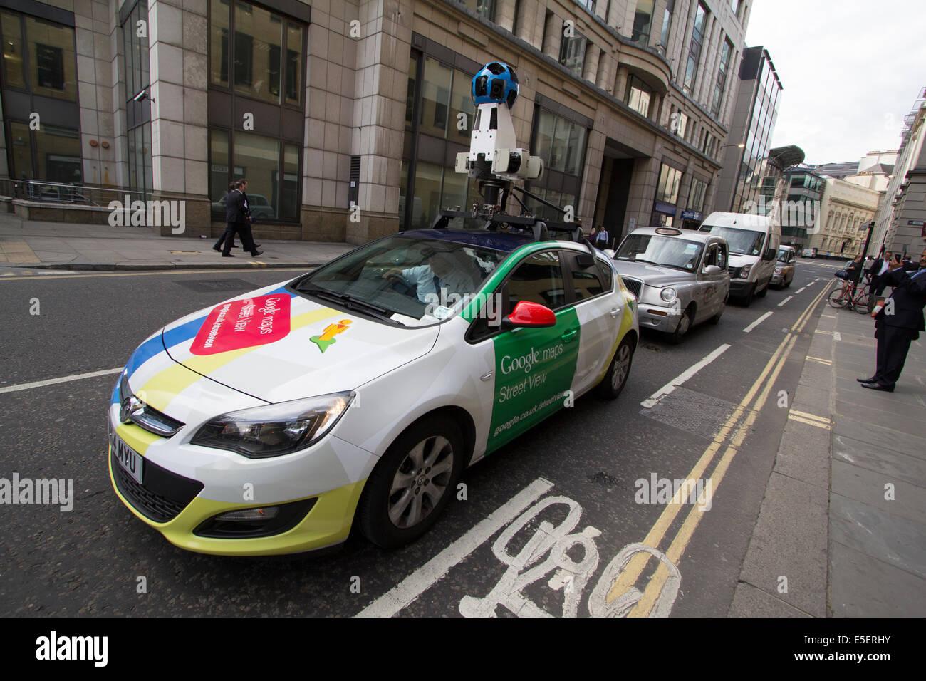 La Voiture De Google Street View Avec Appareil Photo Sur Le Toit Du