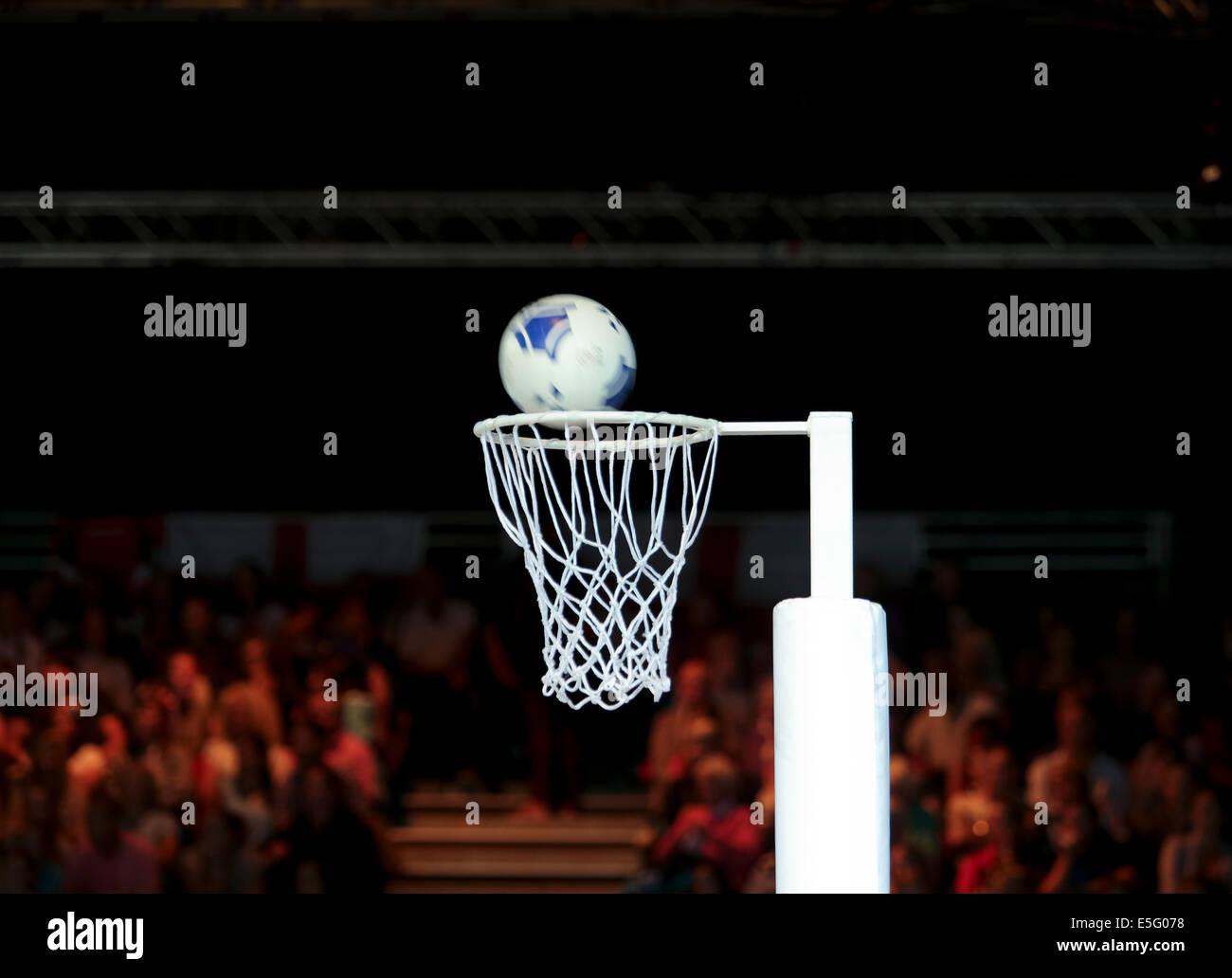 SECC, Glasgow, Ecosse, Royaume-Uni. 30 juillet, 2014. Journée des Jeux du Commonwealth 7. Le netball, Écosse Photo Stock