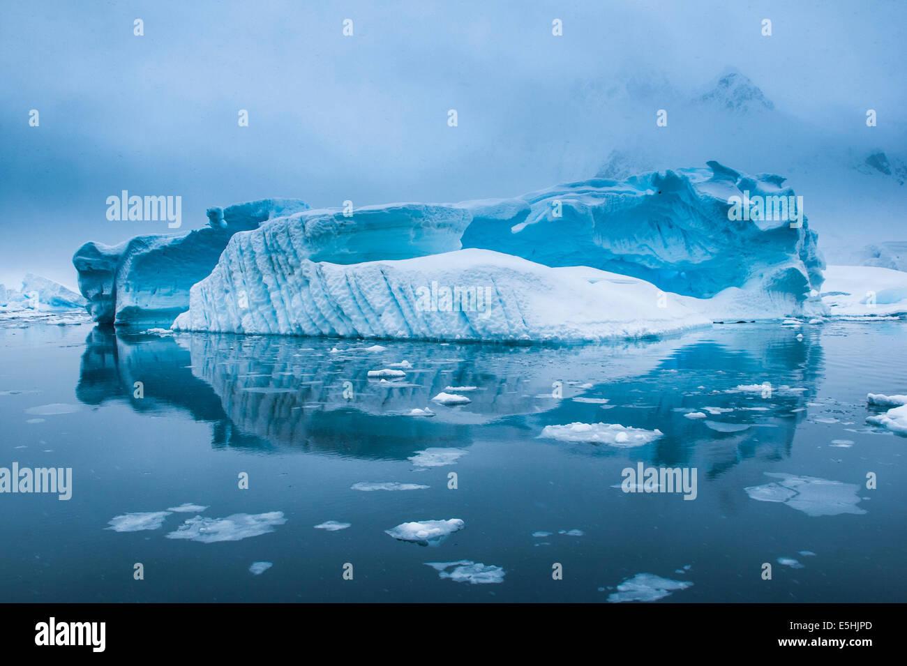 Iceberg dans l'Antarctique, les eaux de l'Antarctique, l'île de l'entreprise Photo Stock