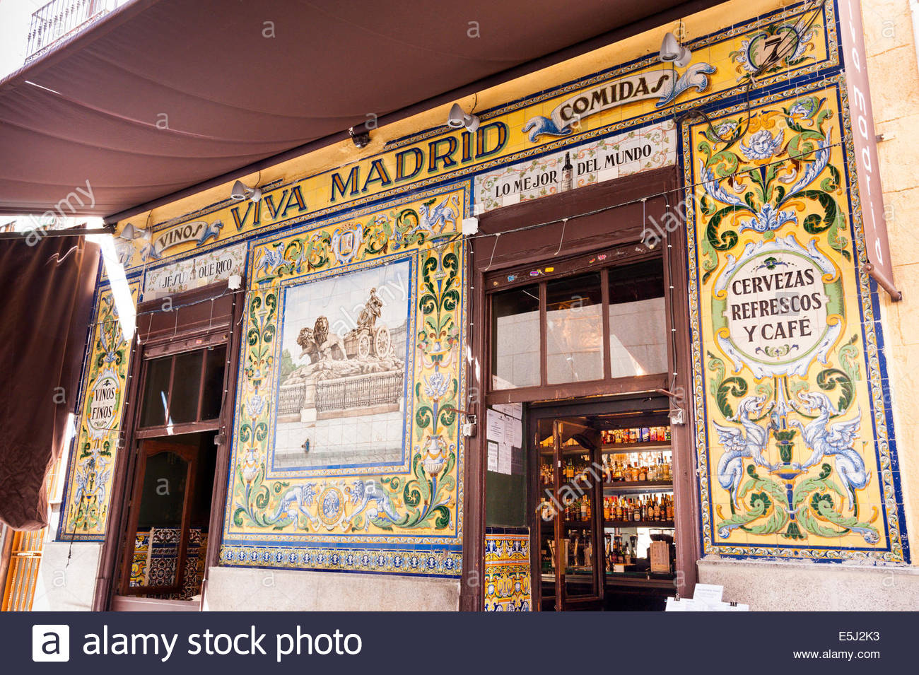 Bar Viva Madrid, Barrio de las Letras, Madrid, Espagne ...