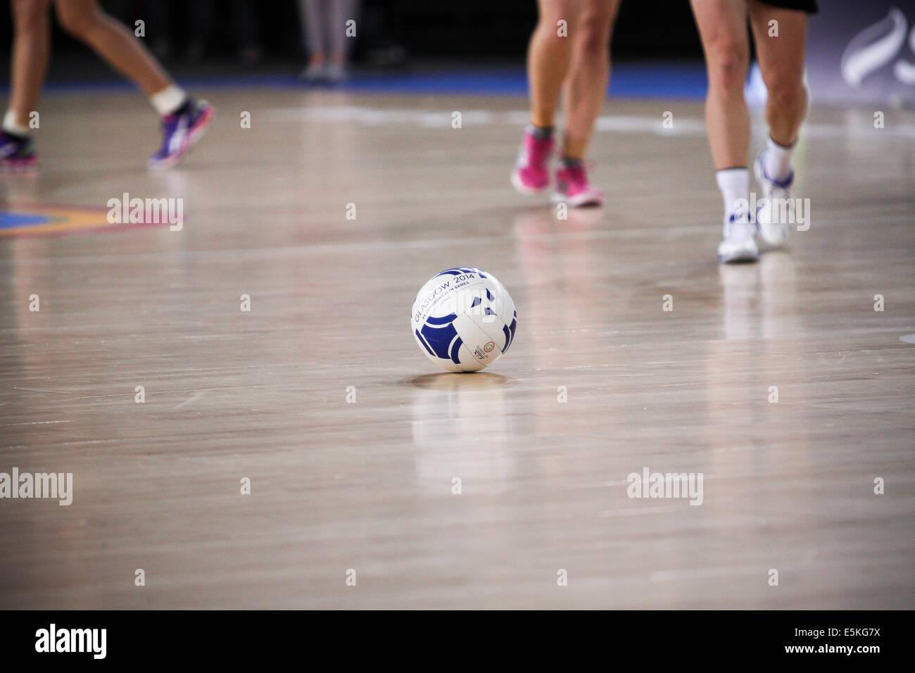 SSE Hydro Glasgow 3 août 2014. Journée des Jeux du Commonwealth de Glasgow 11. Le netball Aus final v Photo Stock