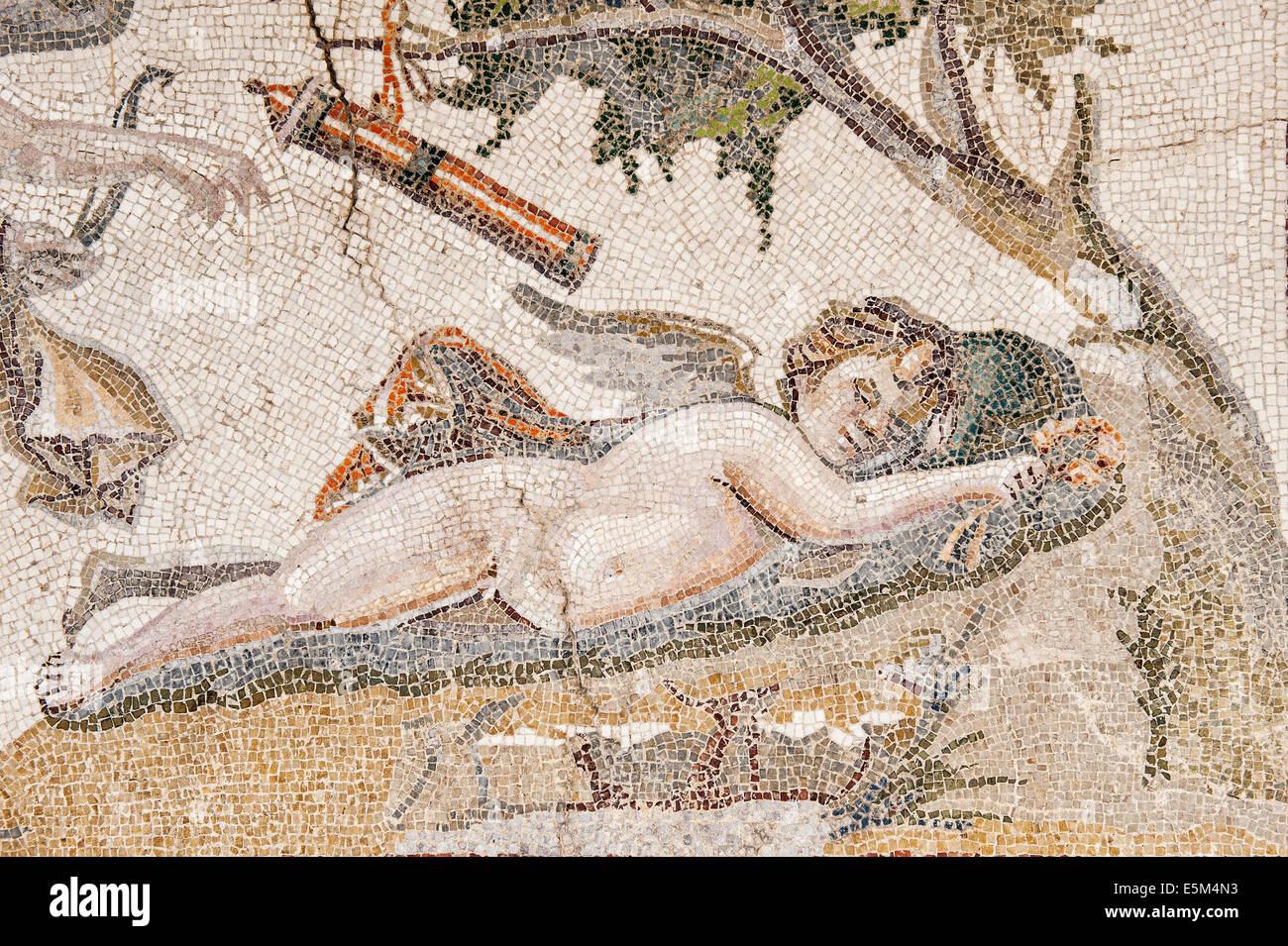 Éros et Psyché, 3e 100 A.C., Musée archéologique d'Hatay, Antioche, province de Hatay, dans le sud-ouest de la Turquie Banque D'Images