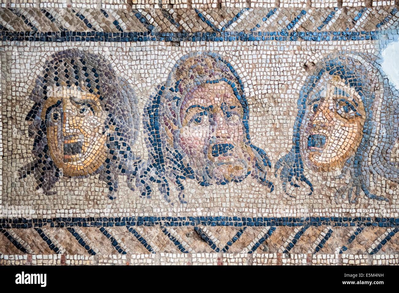 Le Triomphe de Dionysos, mosaïque de Daphné (Harbiye), 2ème-3ème 100 A.C., Musée archéologique d'Hatay, Antioche, Banque D'Images