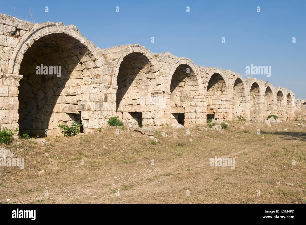 La superstructure du voûté Perga Stadium, Antalya, Turquie Banque D'Images