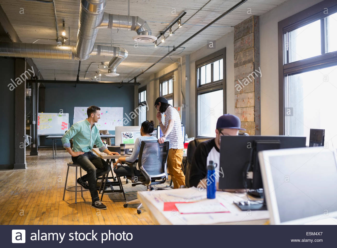 Creative business people working in office Photo Stock