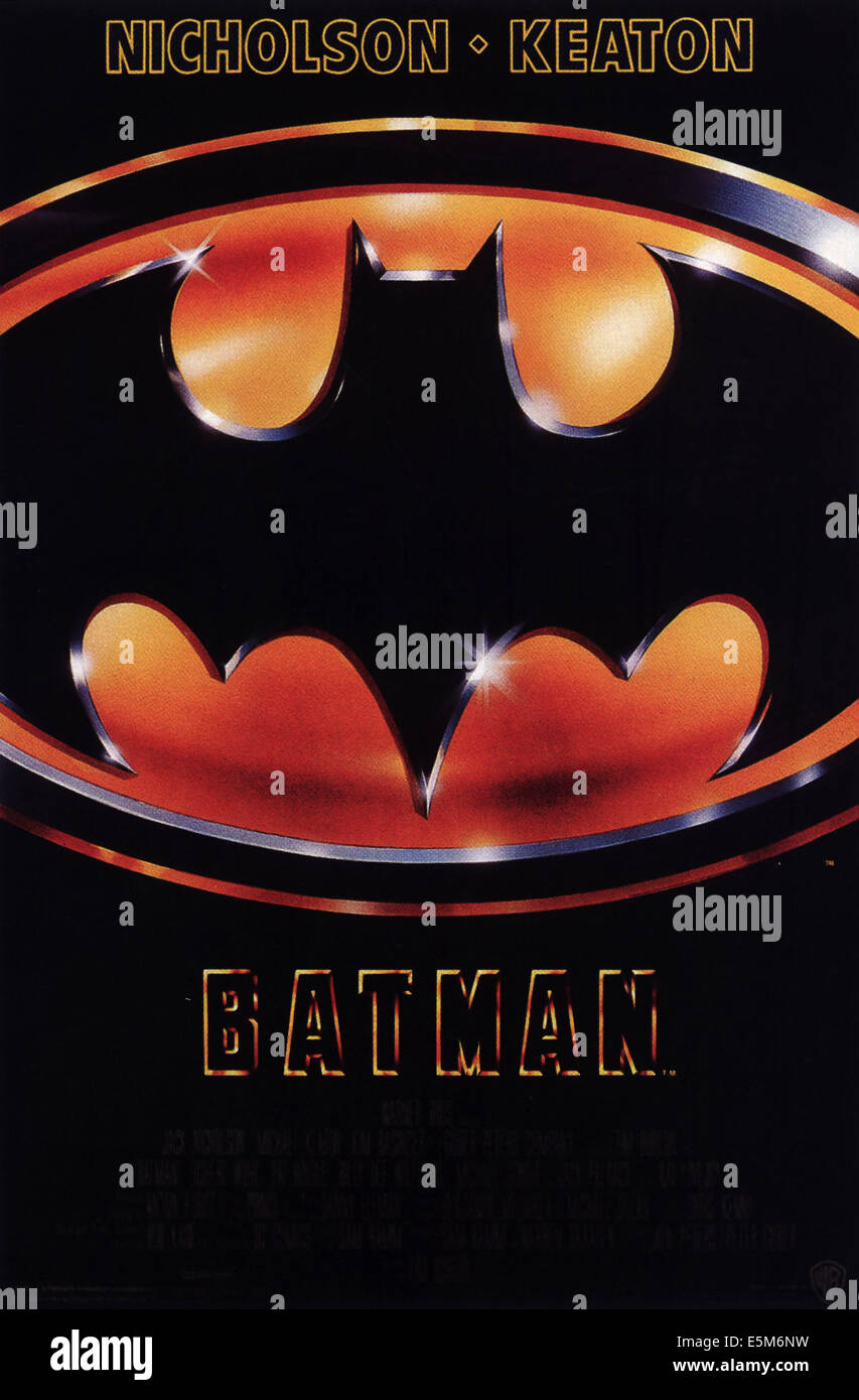 L'affiche de Batman, 1989 Photo Stock