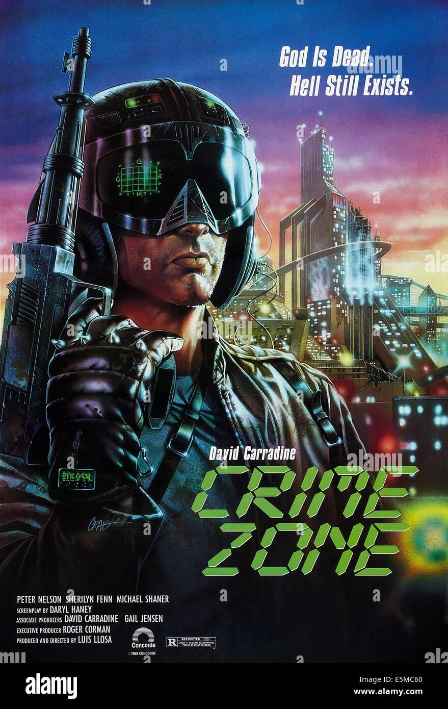 ZONE DE LA CRIMINALITÉ, l'affiche, 1989, ©Concorde Photos/courtesy Everett Collection Photo Stock