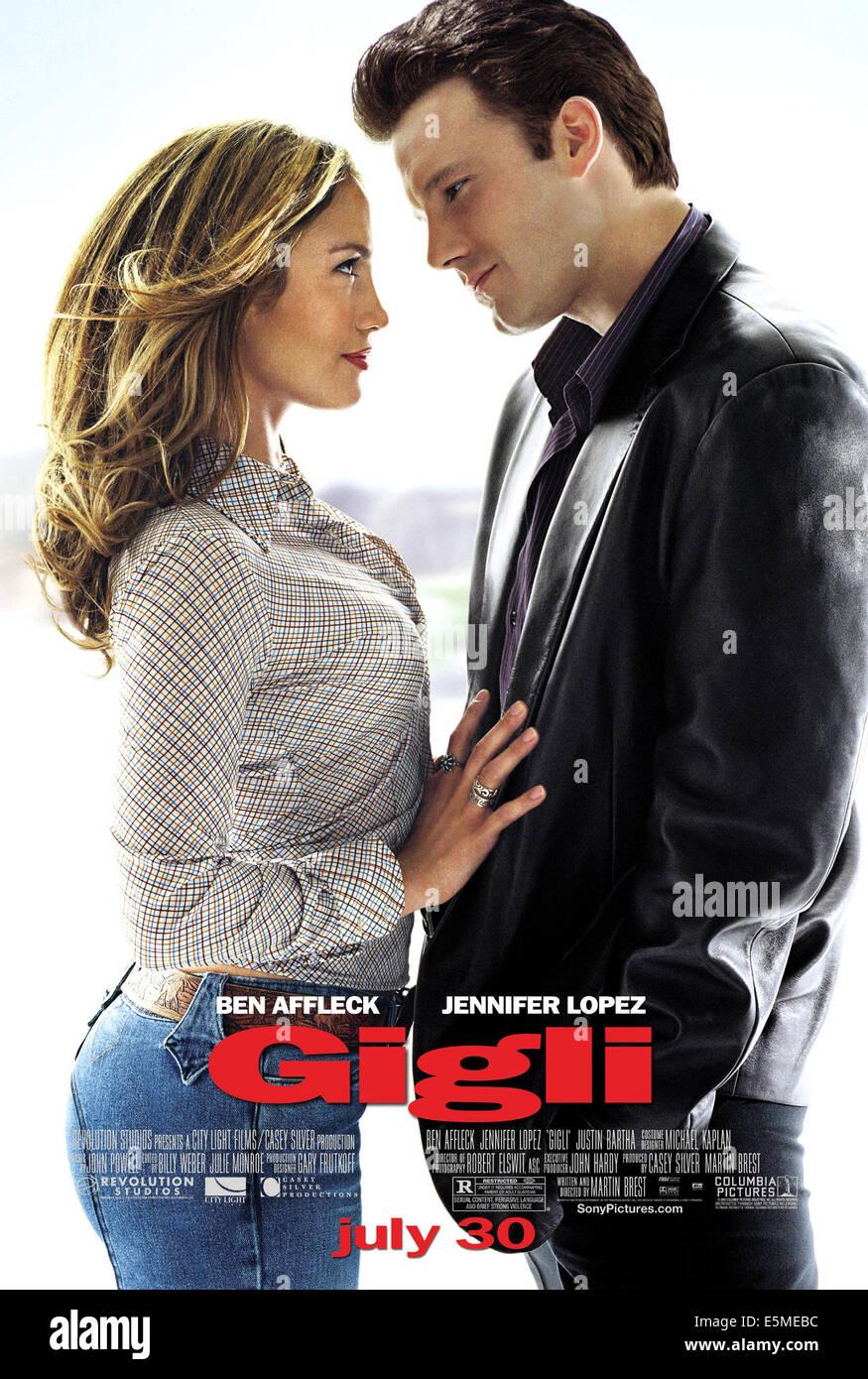 GIGLI, Jennifer Lopez, Ben Affleck, 2003, (c) Columbia/avec la permission d'Everett Collection Photo Stock