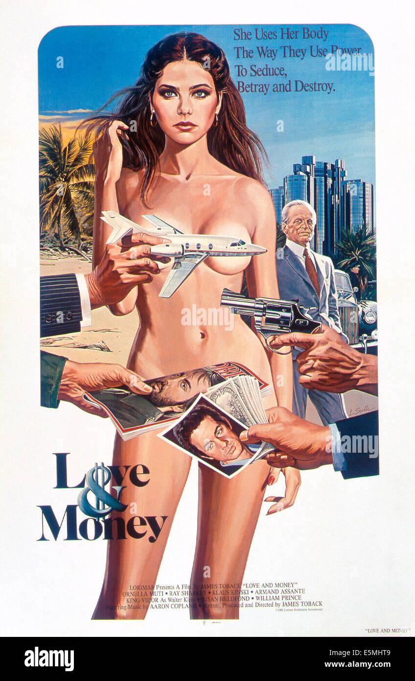 Amour et argent, Ornella Muti (avant), Klaus Kinski, 1982, © Paramount/avec la permission d'Everett Collection Banque D'Images