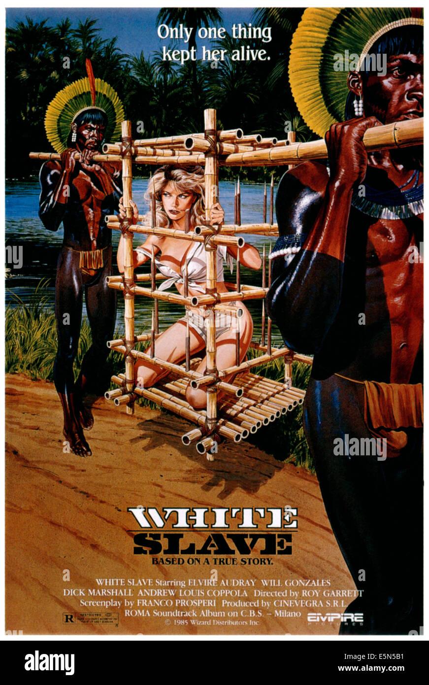 L'ESCLAVE BLANC (aka SCHIAVE BIANCHE : VIOLENZA IN AMAZZONIA), Elvire Audray,  1985.