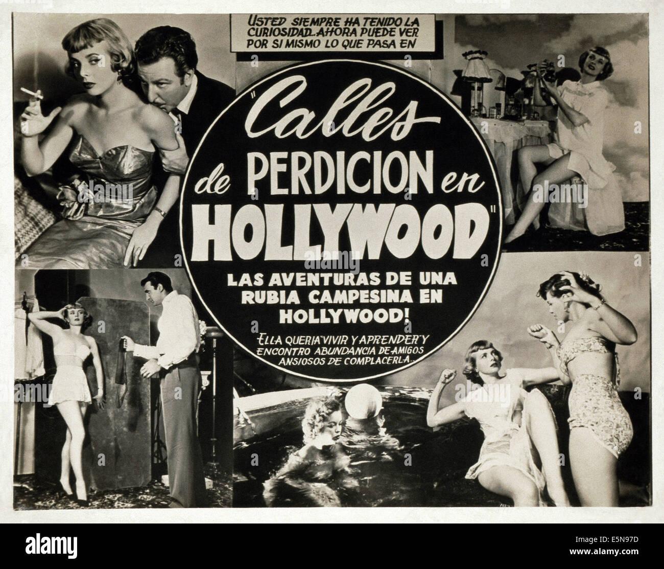 CALLES DE PERDICION EN HOLLYWOOD, (alias RUES DE PÉCHÉ À HOLLYWOOD), ca. Années 1950 Photo Stock