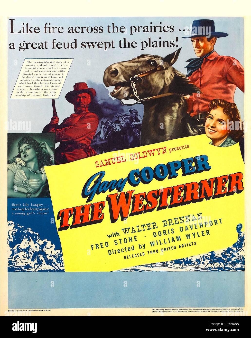 Les Occidentaux, Lillian Bond, Walter Brennan, Doris Davenport, Gary Cooper, 1940 Photo Stock