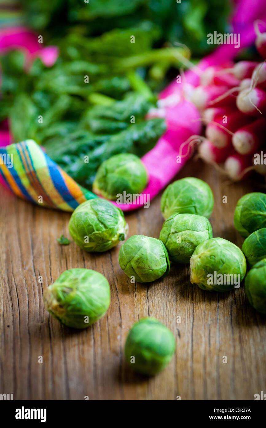 Nature morte de légumes frais. Photo Stock