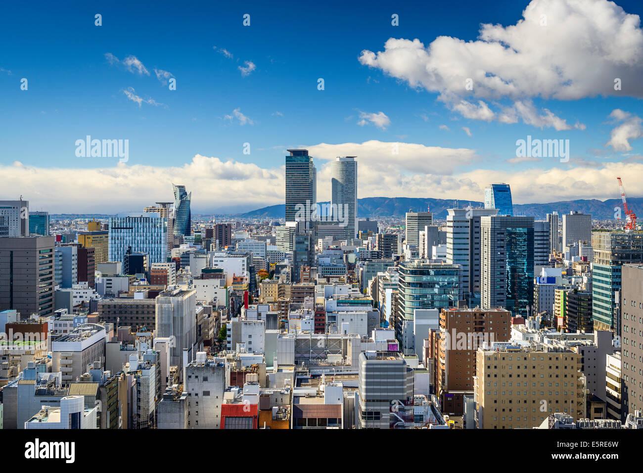 Nagoya, Japon, le centre-ville. Photo Stock