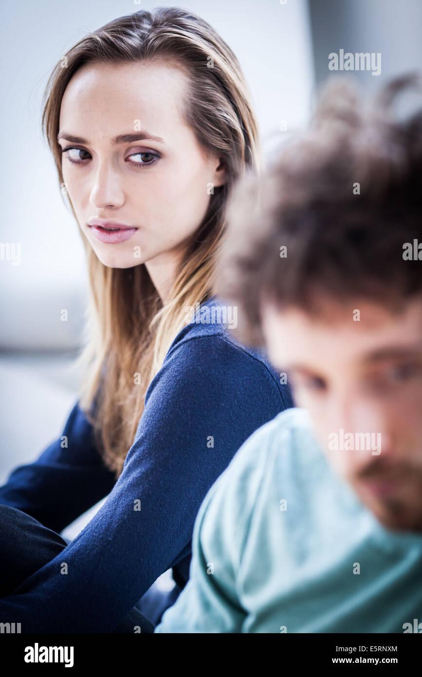 Problèmes de relation. Photo Stock