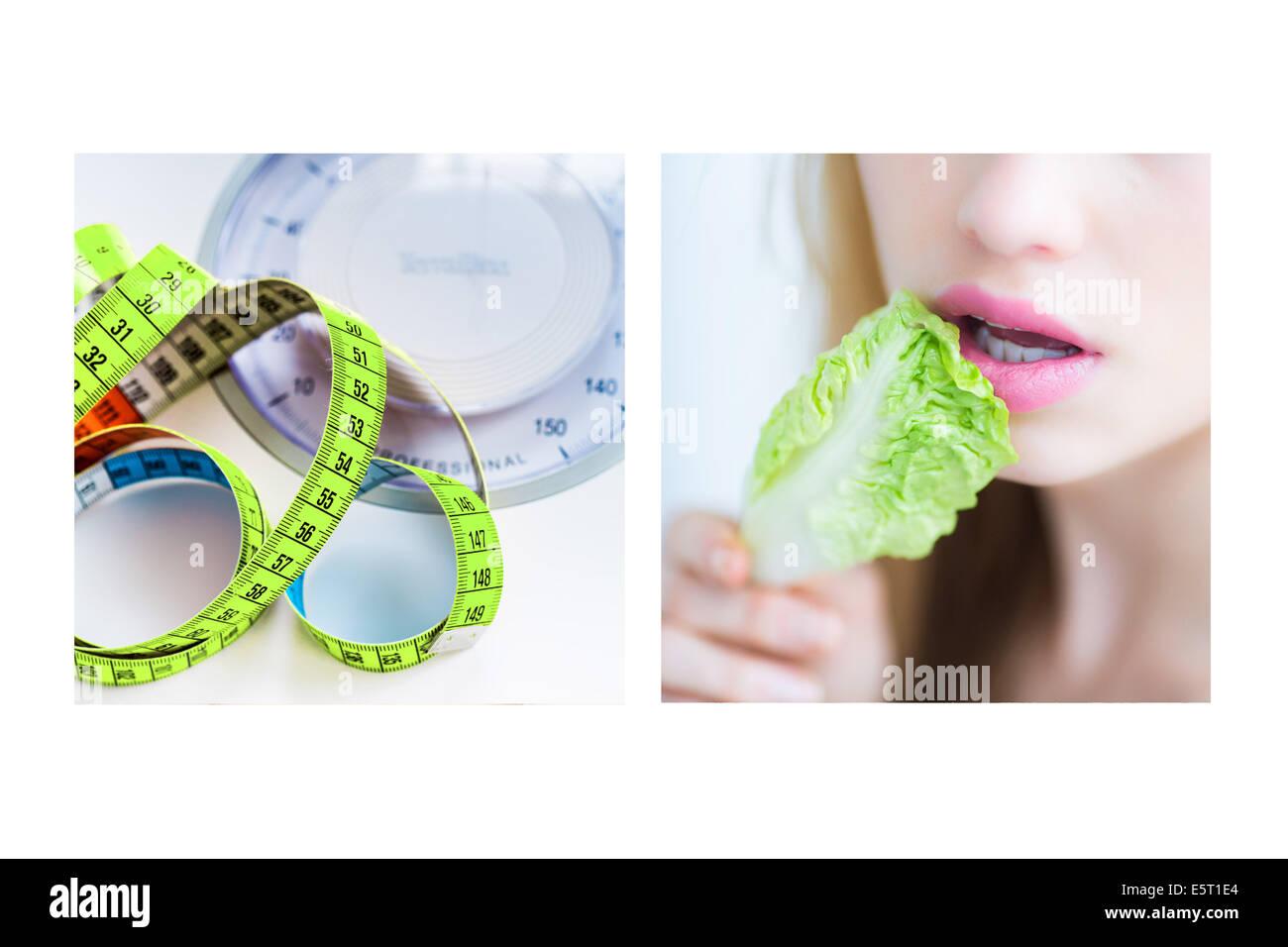 Concept de suivre un régime. Photo Stock