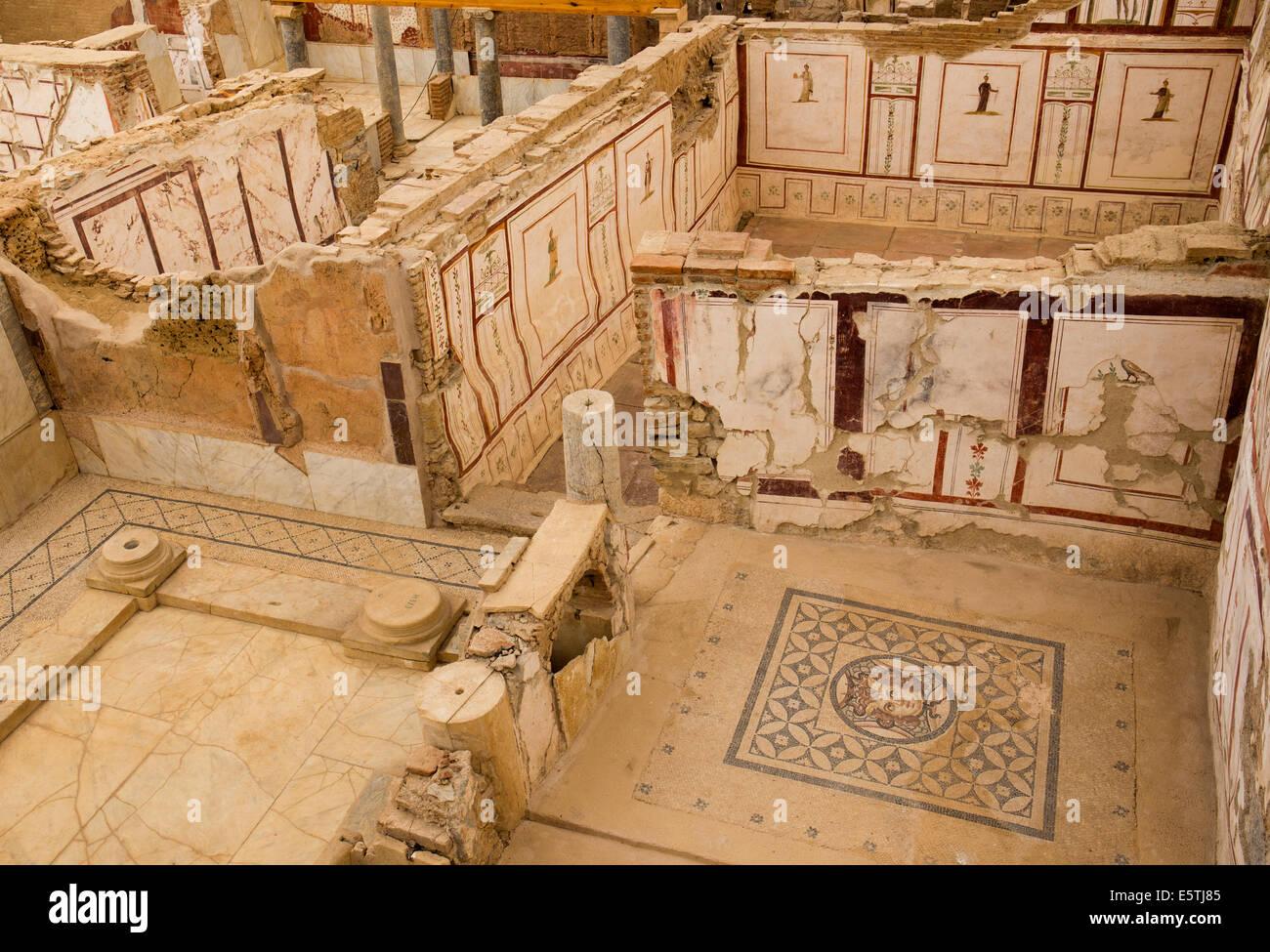 Maisons terrasse Ephèse Turquie Photo Stock