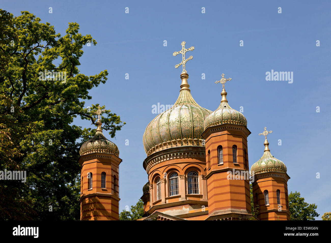 Chapelle Orthodoxe russe, Weimar, Thuringe, Allemagne, Europe Banque D'Images