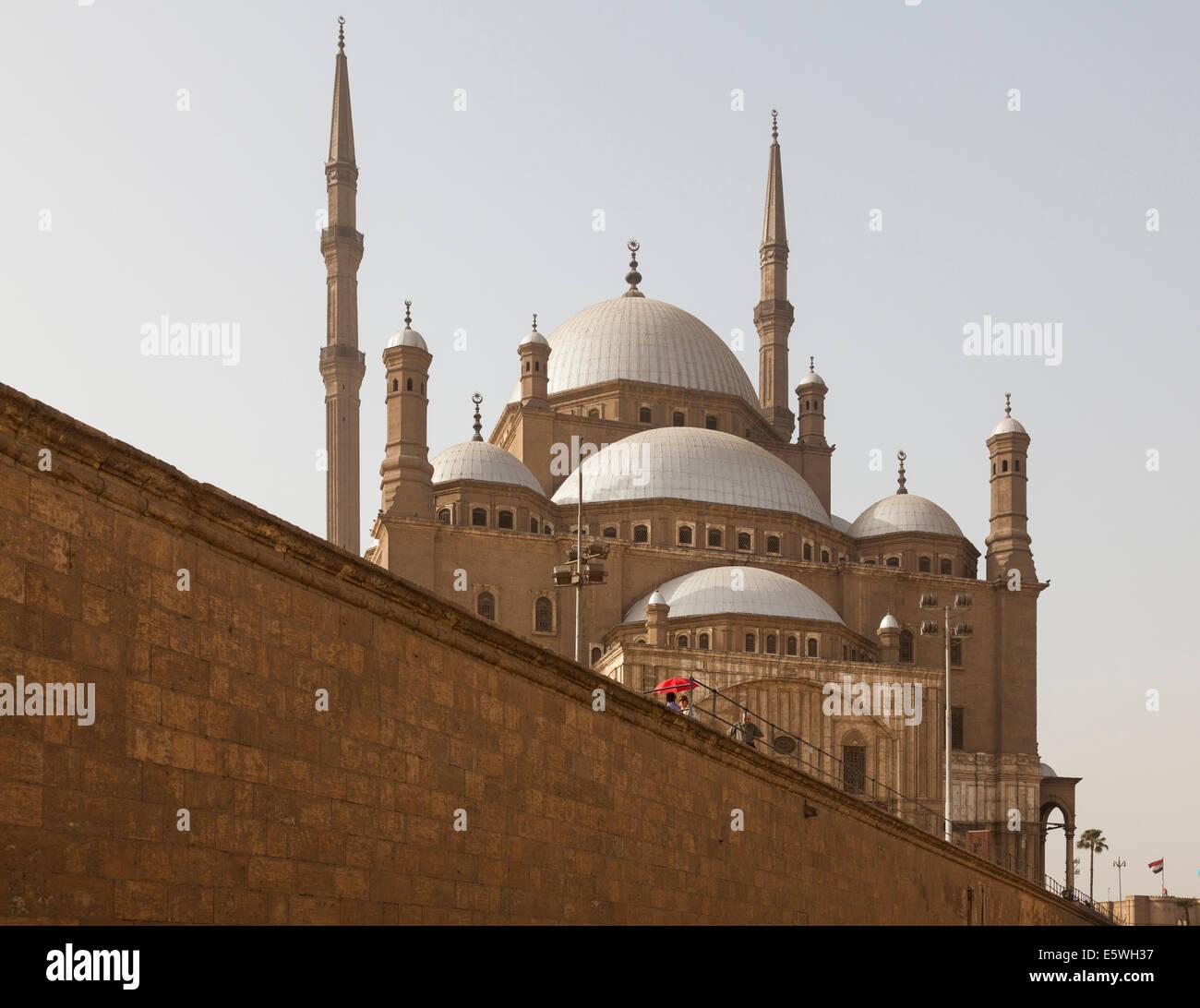 Mosquée d'albâtre ou Mosquée de Muhammad Ali Pacha dans la Citadelle du Caire, Egypte Photo Stock
