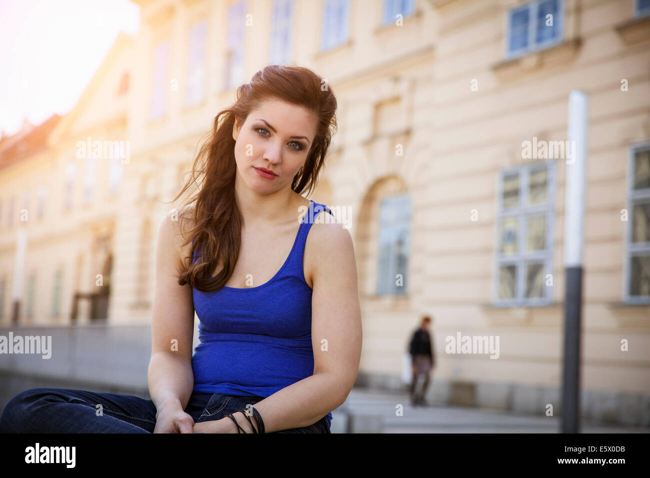 Portrait de jeune femme adulte Photo Stock
