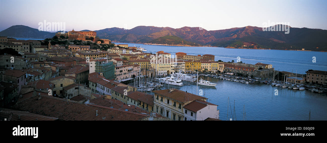 Elba Portoferraio, Islande, Toscane, Italie Photo Stock