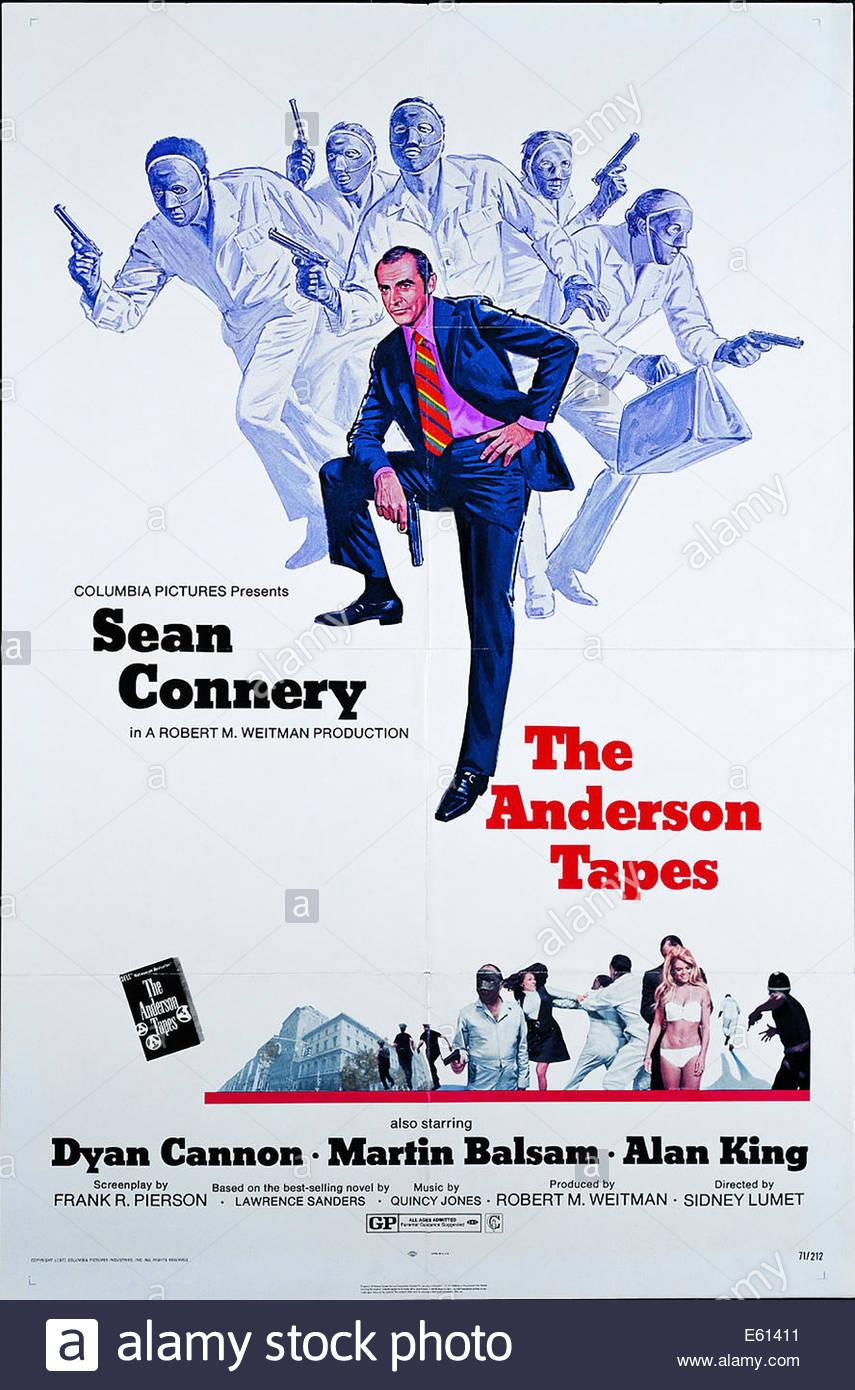 Affiche pour 'le Anderson Tapes' , 1971 film américain réalisé par Sidney Lumet, avec Sean Photo Stock