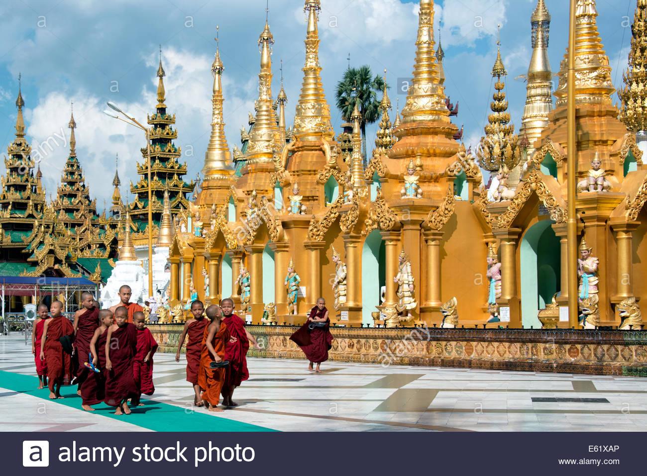 La Pagode Shwedagon à Yangon Myanmar (Birmanie) Banque D'Images