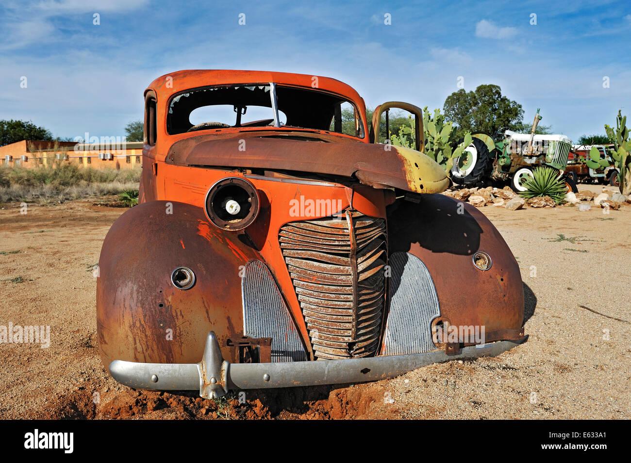 Carcasse de voiture, Solitaire, historiquement Areb, depuis 1848 un petit règlement privé sur le même Photo Stock