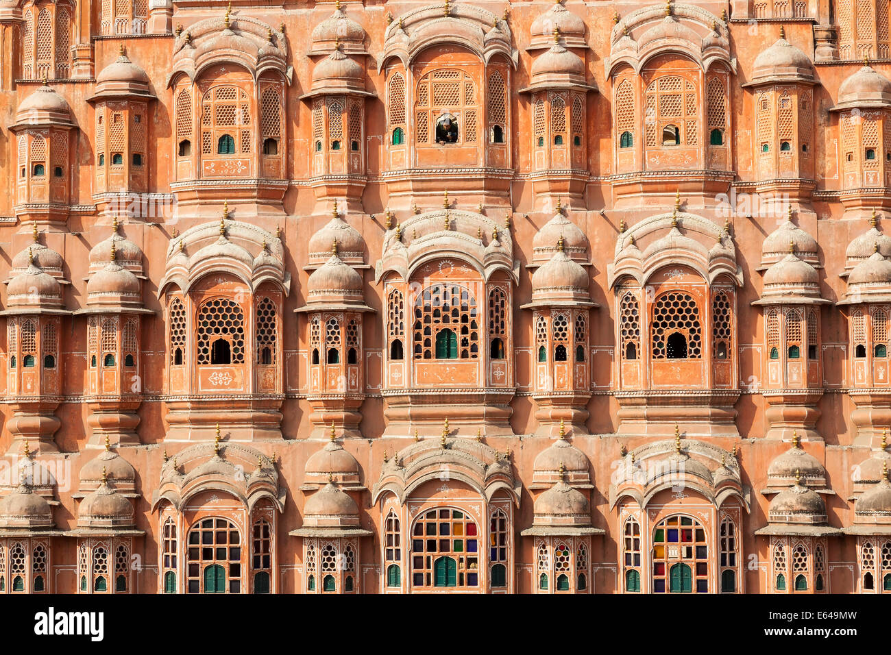 Palais des Vents (Hawa Mahal), Jaipur, Rajasthan, Inde Photo Stock