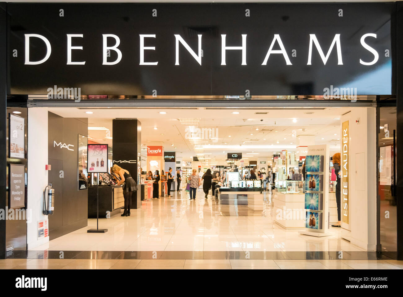 Magasin Debenhams, UK. Photo Stock