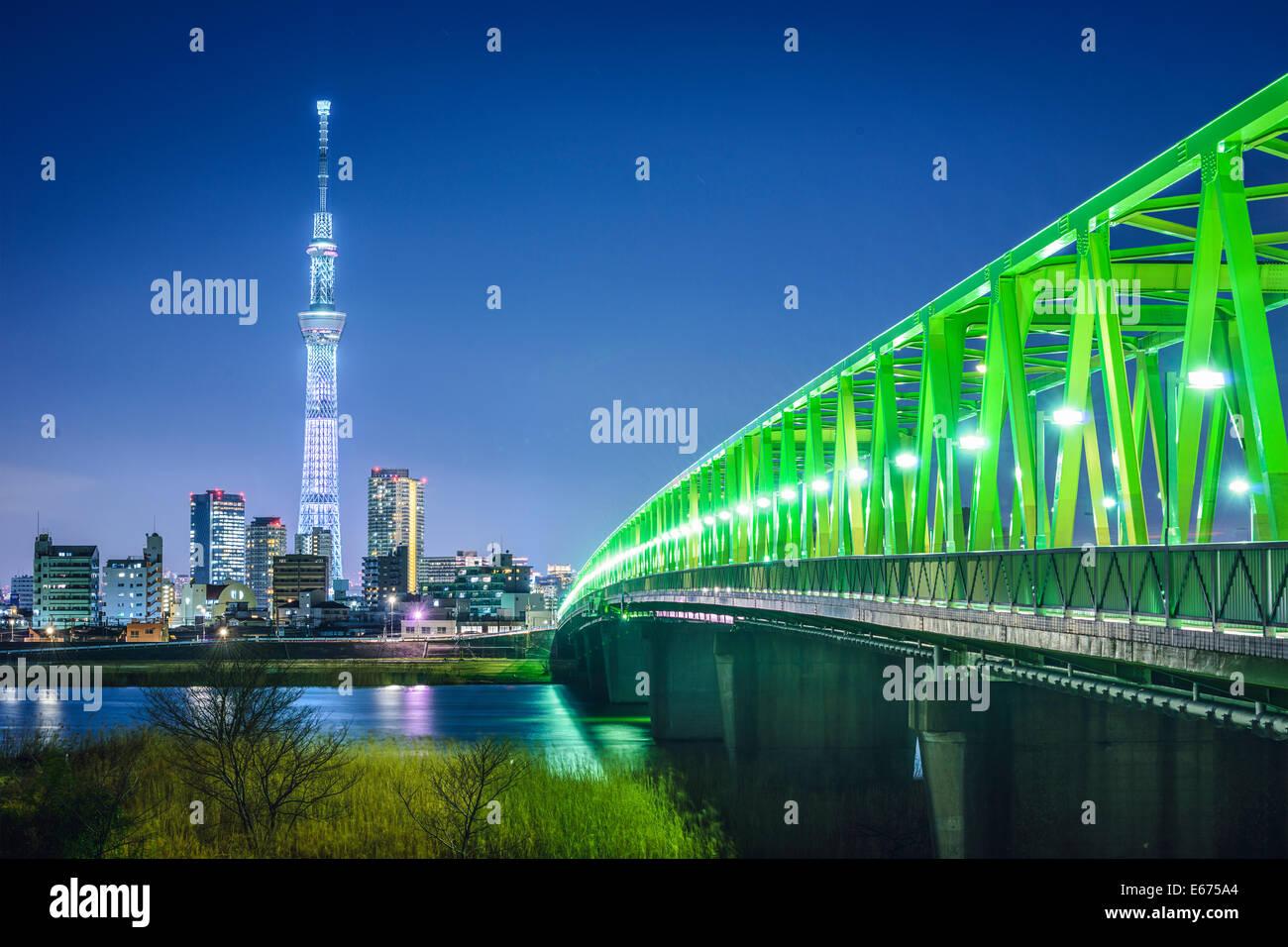 Tokyo, Japon Tokyo Skytree skyline. Photo Stock