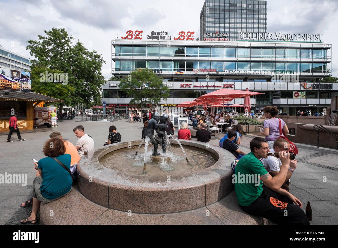 Le centre commercial Europa Center à Charlottenburg Berlin Allemagne Photo Stock