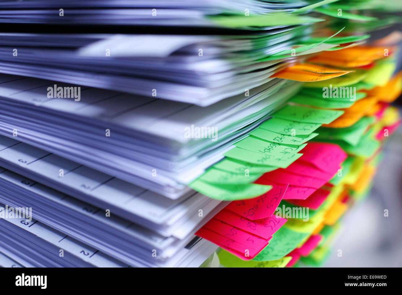 Pile,note pad,document Photo Stock