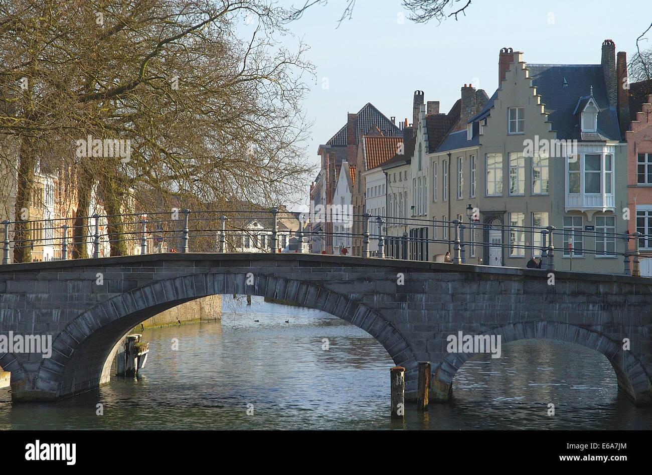 ,Pont,bruges zwin Banque D'Images