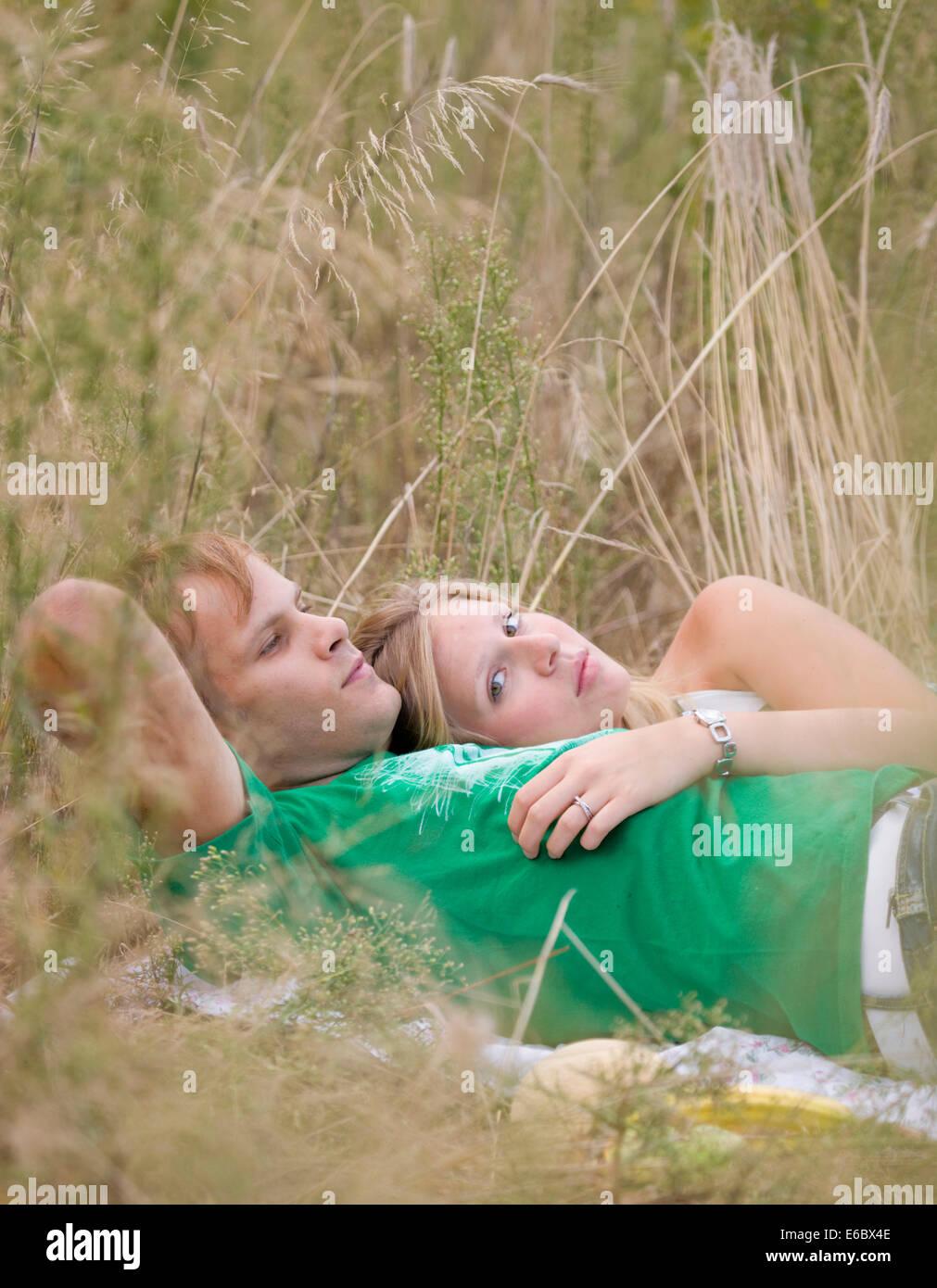 L'unité,love couple,excursion Photo Stock