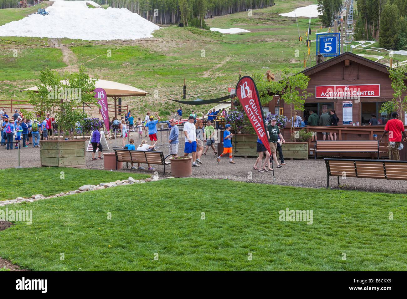 Summer Fun Park de Breckenridge, Colorado. Banque D'Images