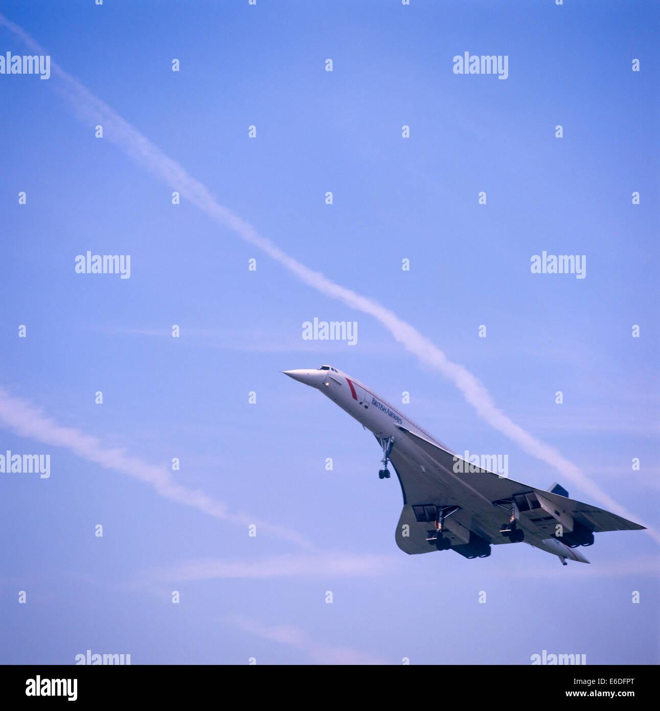Concorde tourné en plein vol Banque D'Images