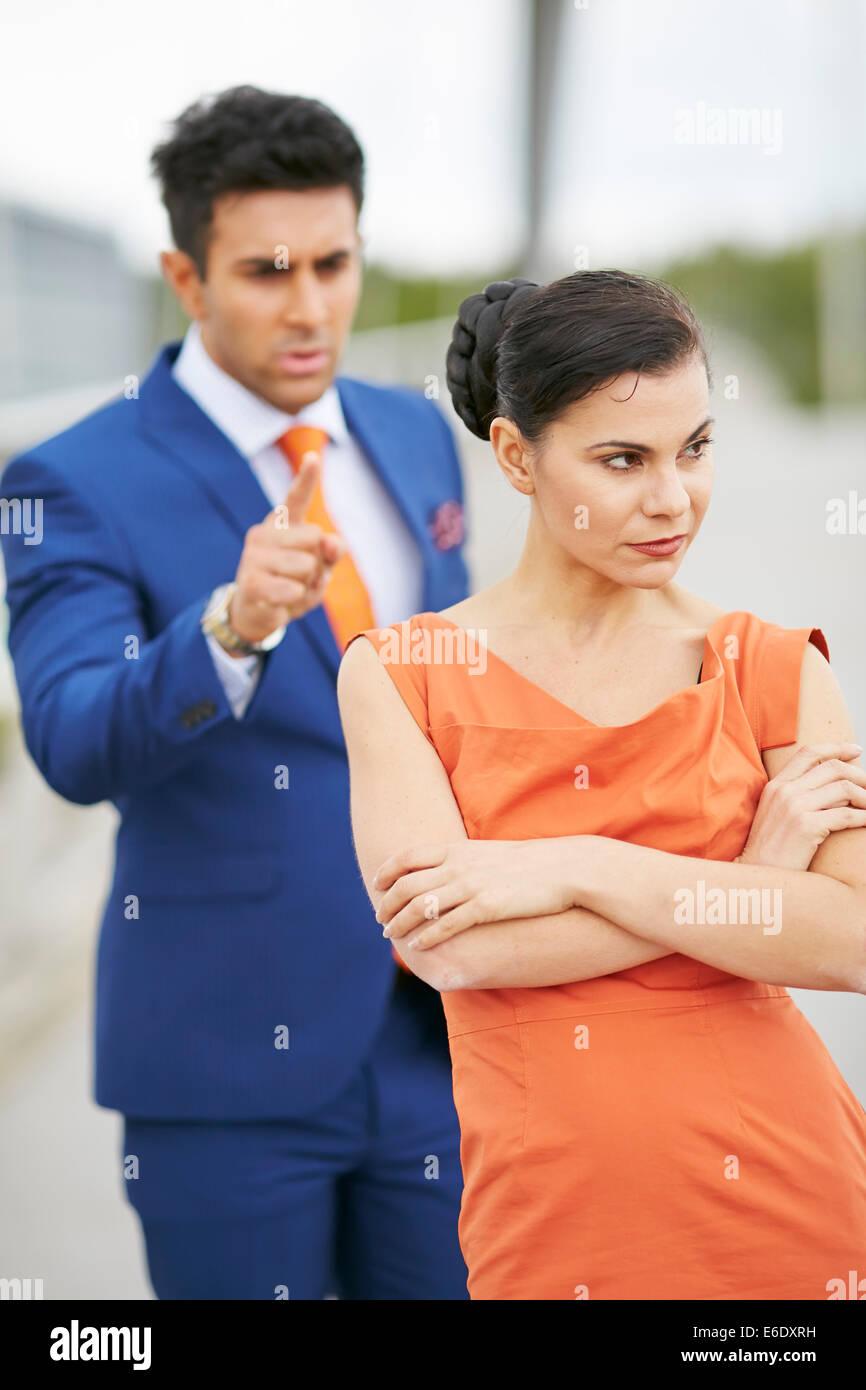 Conflit de couple Photo Stock