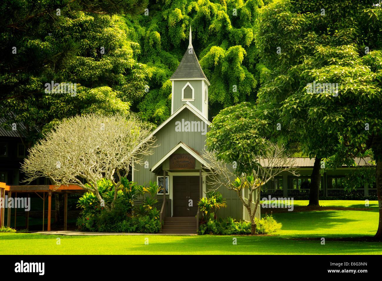 Church at Four Seasons Lodge at Koele. Lanai, Hawaii. Photo Stock