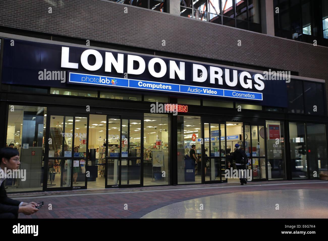 London drug store Vancouver Photo Stock