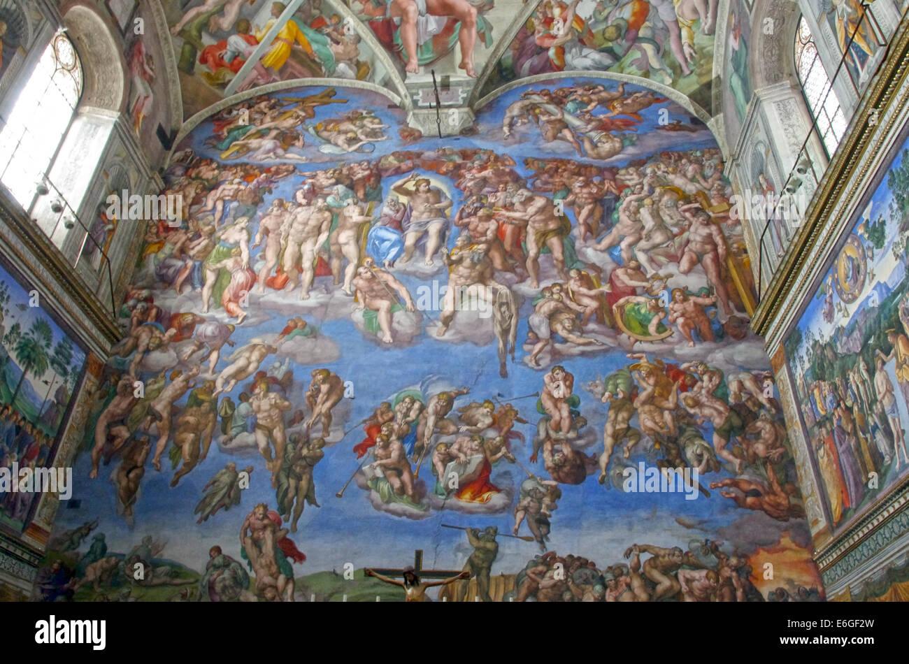 Le Jugement Dernier De Michel Ange Dans La Chapelle Sixtine A Rome
