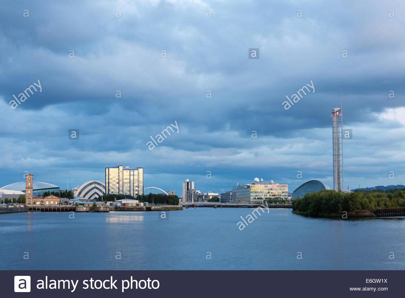 Les bâtiments de Clyde River, Glasgow, Écosse Banque D'Images
