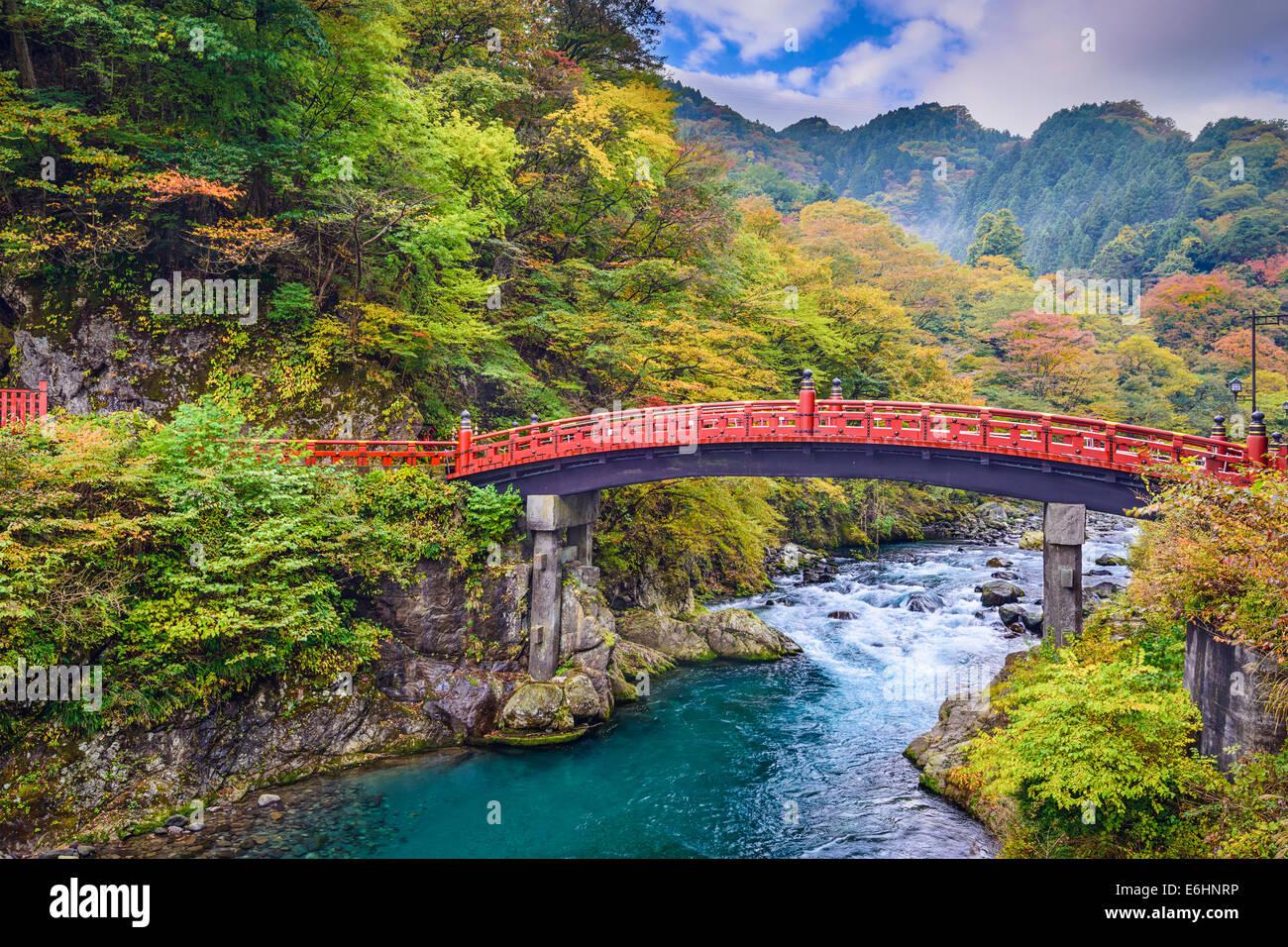 Pont Shinkyo à Nikko, Japon. Photo Stock