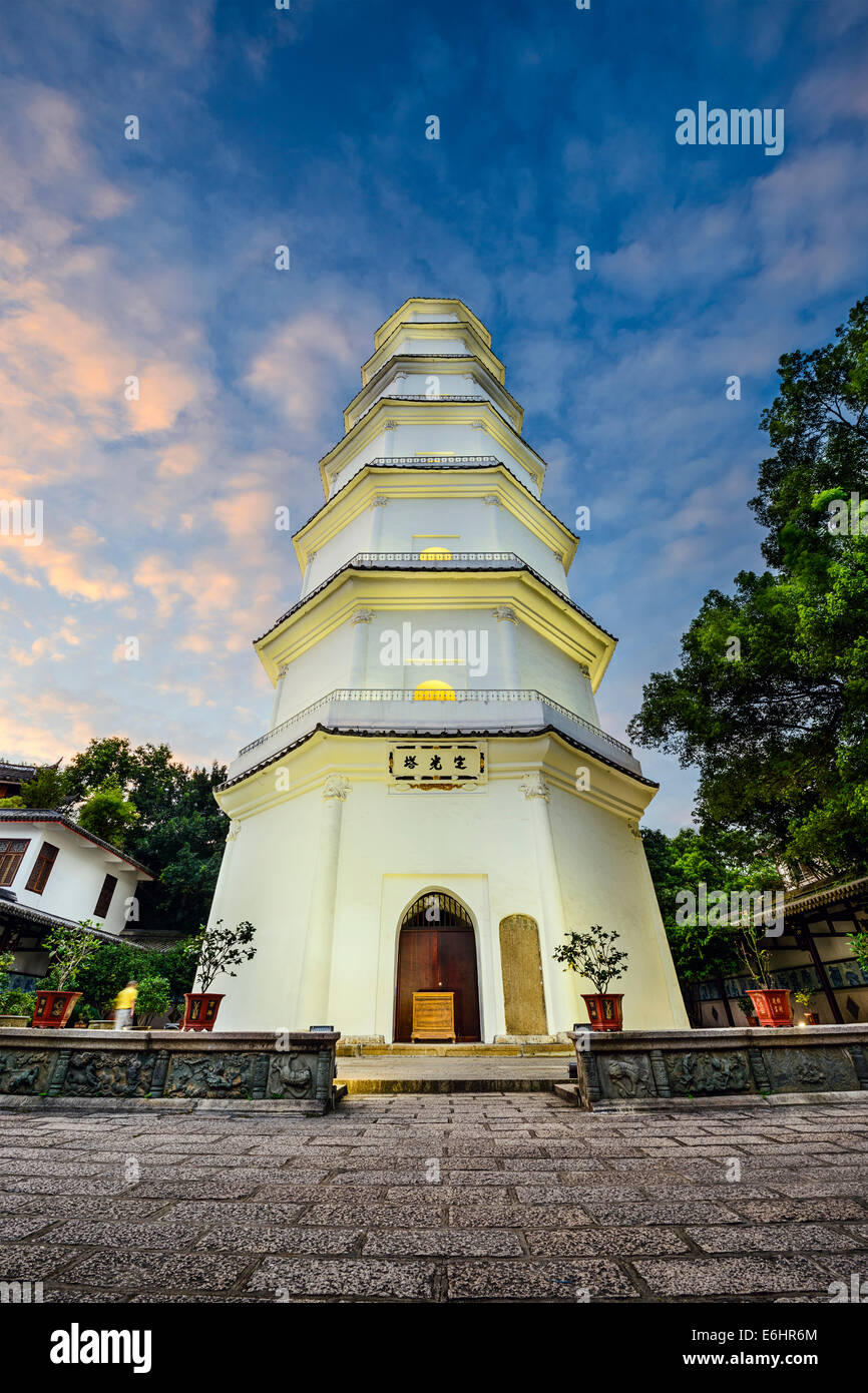 Fuzhou, Fujian, Chine à la Pagode Blanche. Photo Stock