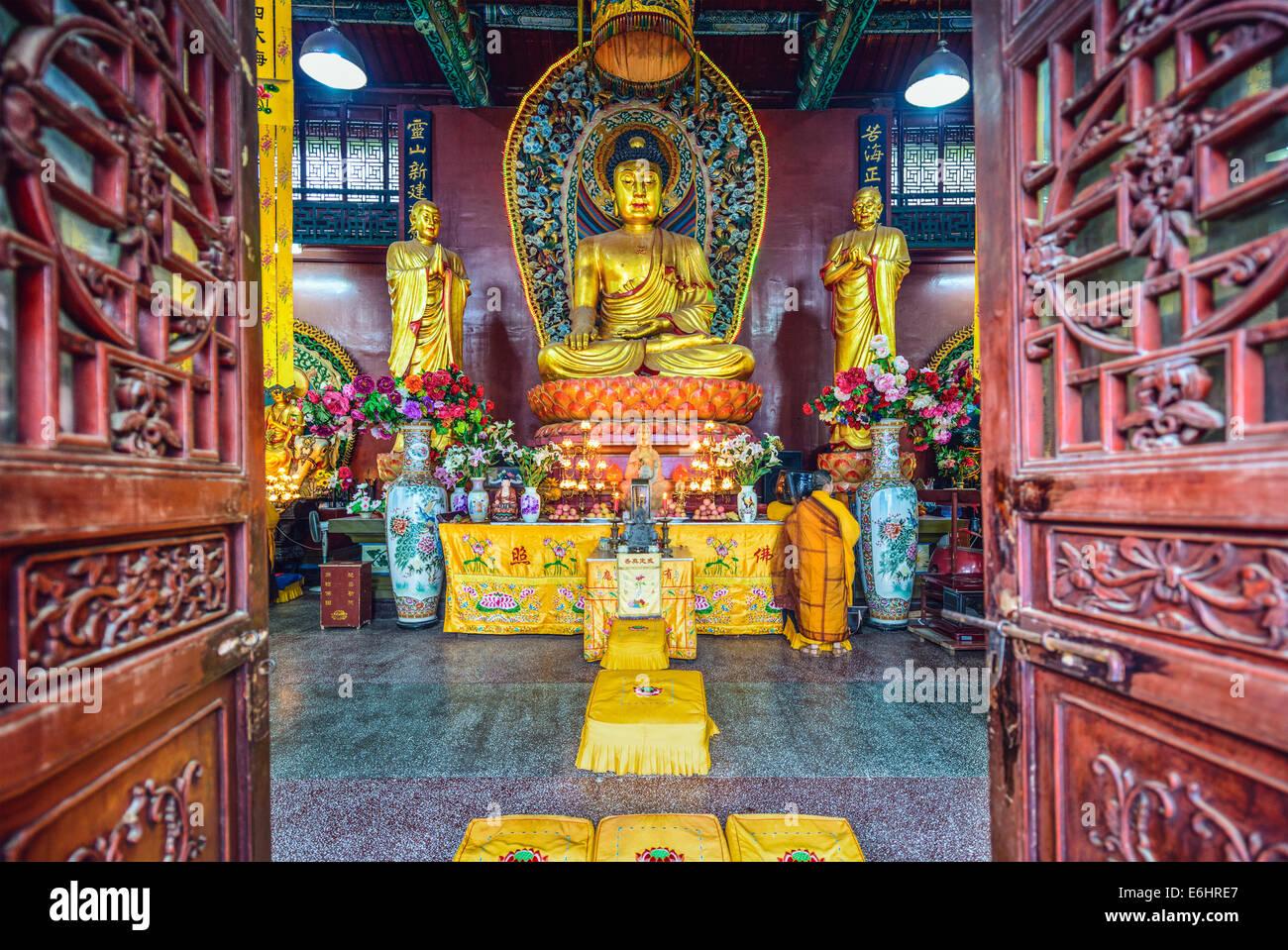 Hongfu Temple d'un sanctuaire de Guiyang, Chine Photo Stock