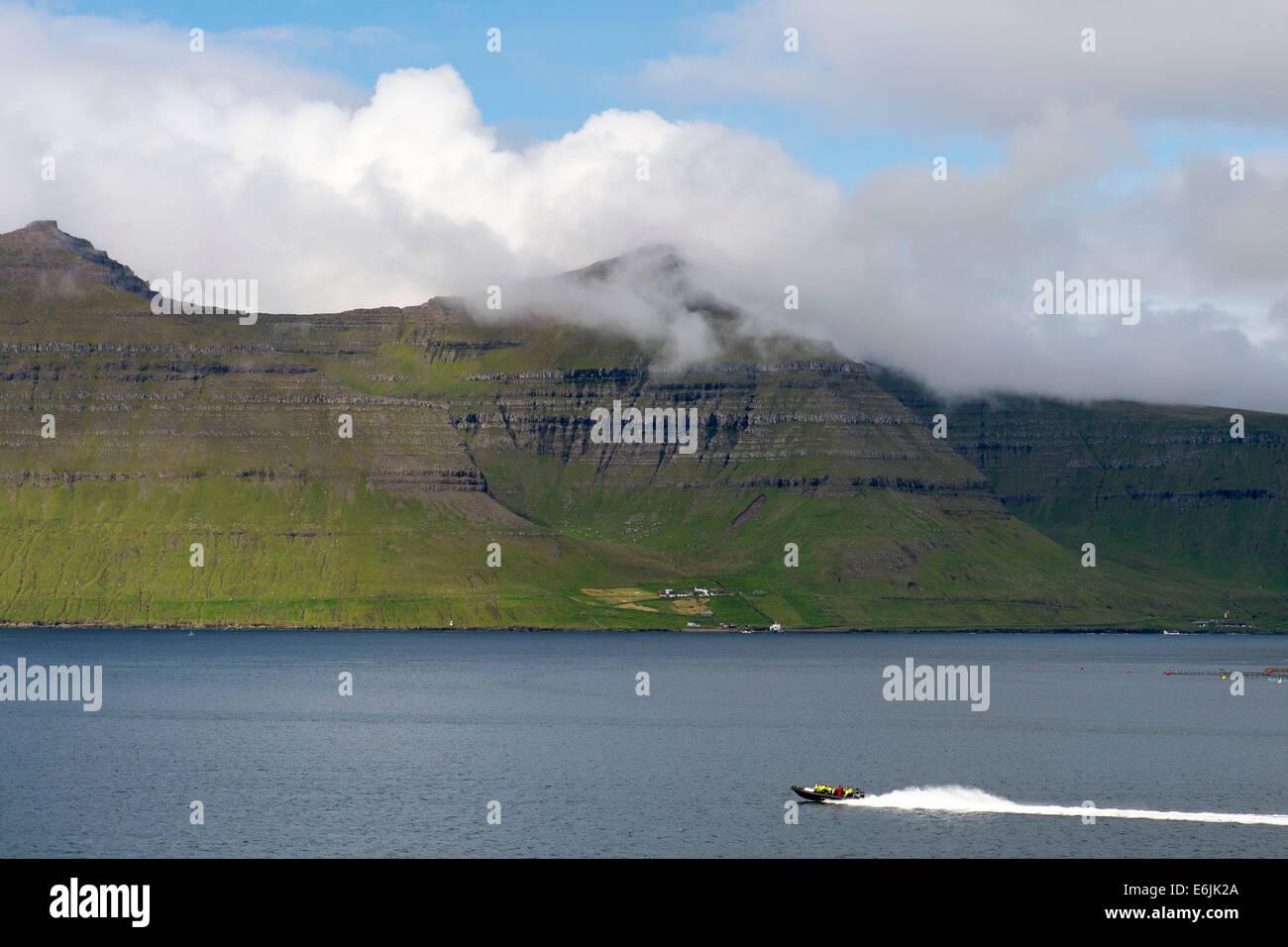 Klaksvík dans les îles Féroé. (Klaksvik) Photo Stock