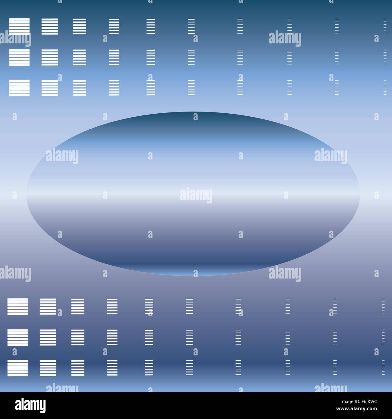 Ellipse résumé l'espace blanc pour le texte sur un fond bleu Photo Stock