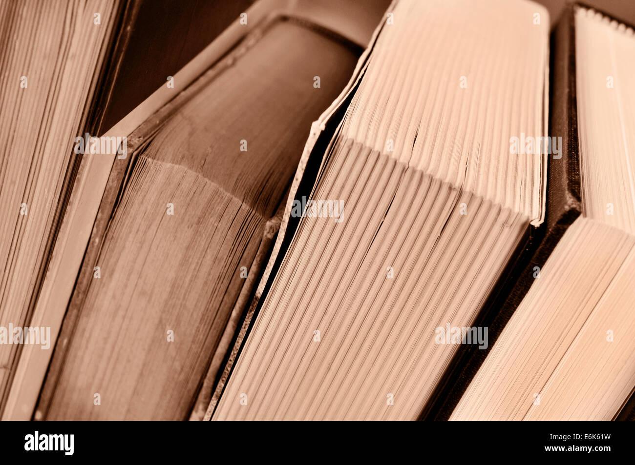 Libre de certains livres, en sépia Photo Stock