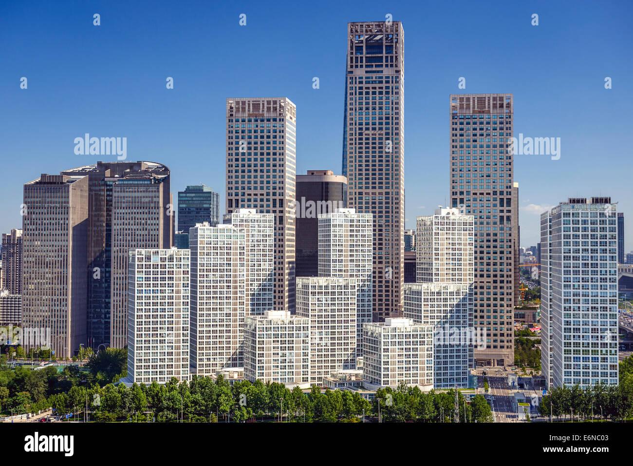 Beijing, Chine CBD sur la ville. Photo Stock