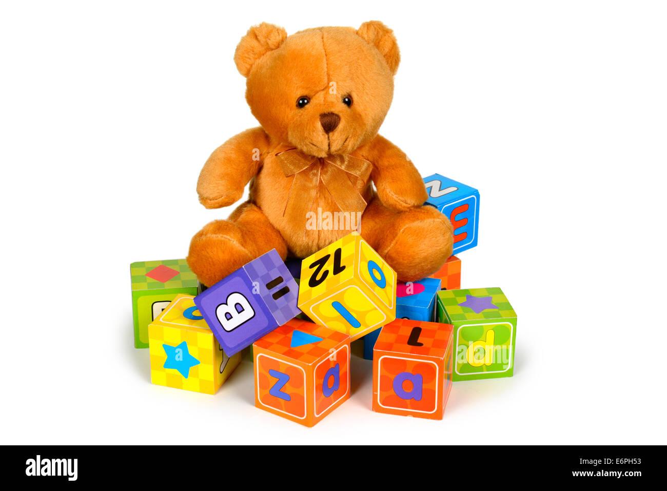 Ours, Alphabet Blocks Photo Stock